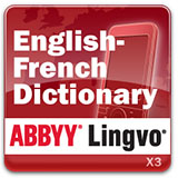 ABBYY Lingvo x3 Mobile English - French Concise Oxford Hachette Dictionary