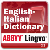 ABBYY Lingvo x3 Mobile English - Italian Concise Oxford Paravia Dictionary