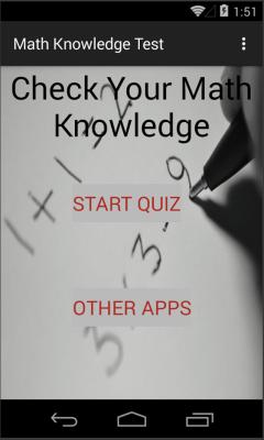 Math Knowledge Test
