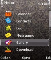 Menu Symbian