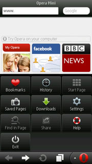 Opera Mini web browser for Symbian SDK3