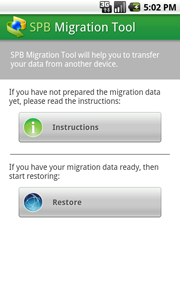 SPB Migration Tool - Migrate to Android!