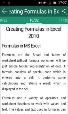 MS Excel 2010 tutorial