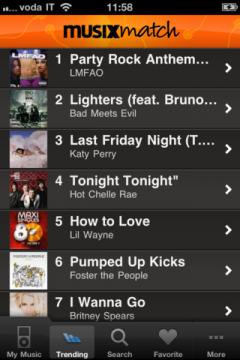 musiXmatch for iPhone