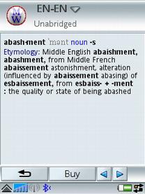 Английский толковый словарь Merriam-Webster Pocket для Symbian UIQ 3.0