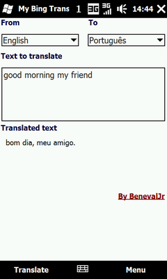 My Bing Translator