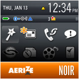 Noir by Aerize - Premium BlackBerry Theme