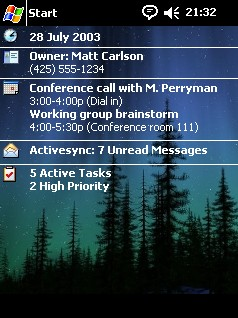 Northern Lights theme - for Pocket PC