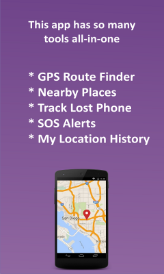 Phone Location Tracker SOS Nearby Places and GPS
