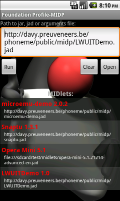 phoneME Feature (Android)