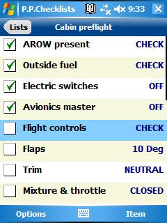 Pilot Pocket Checklists
