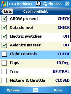 Pilot Pocket Checklists