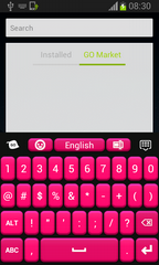 Pink and Black Free Keyboard