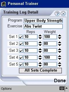 Personal Trainer for Pocket PC