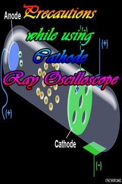 Precautions while using Cathode Ray Oscilloscope