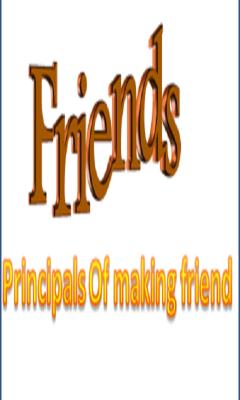 Principles Of Making Friend