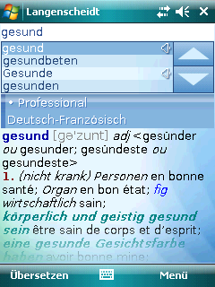 Langenscheidt Professional-Worterbuch Franzosisch for Windows Mobile