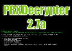 PRXDecrypter version 2.7a