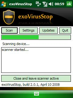 exoVirusStop antivirus for PPC