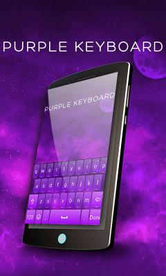 Purple Keyboard Theme Free