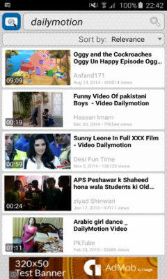 Quick Dailymotion Search & Widget
