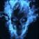 Flaming Blue Skull HD live wallpaper