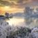 Frozen River at rain Wallpaper