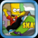 Bart Simpson Skate boarding