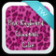 Pink Keyboard Cheetah Color