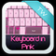 Keyboard in Pink
