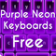 Purple Neon Keyboards Free