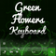 Green Flowers Keyboard