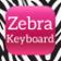 Keyboard Backgraund Zebra