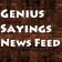 Quote Genius News Feed