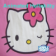 Hello Kitty with animated heart on focus icon