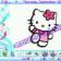 Swirly Hello Kitty