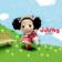 Ddung little cute girl on a trip picnik theme park