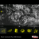 Silver and Black Funk Art Abstract Theme with Brilliant Yellow Aspect Icons