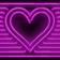Pink Neon Heart Animated Theme