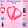 Pink Valentine Heart With Os7 Icons