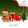 Teddy Bear and Gift Merry X mas