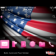 Team USA Flag for 2012 London Olympics with Pink Icons Theme