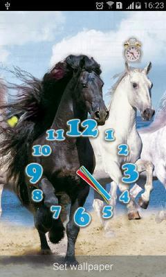Running Horses alarm Clock and Flashlight