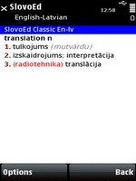 SlovoEd Classic English-Latvian dictionary for S60