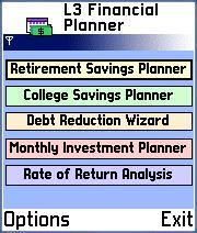 FinancialPlanner for Series 60