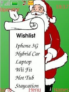 Santa Claus Wishlist