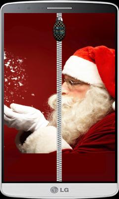 Santa Claus Zipper Lock Screen