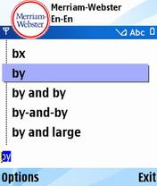 Английский толковый словарь Merriam-Webster Pocket S60