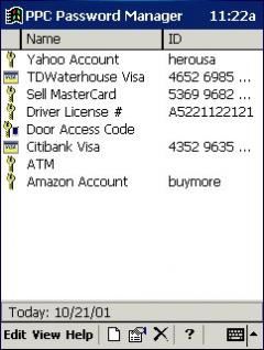Password Manager for Pocket PC