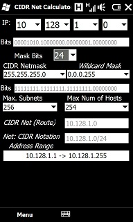 CIDR Network Calculator